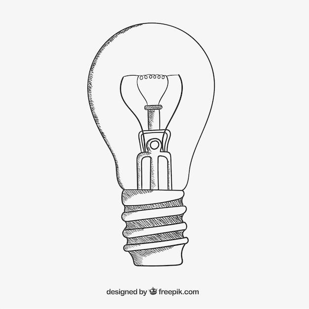 Flüchtiger-glühbirne Kostenlosen Vektoren