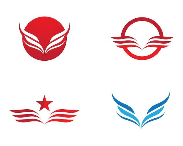 Flügel-vektor-symbol Premium Vektoren