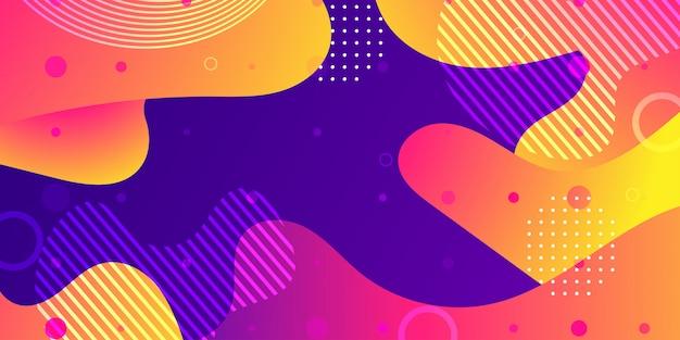 Flüssige abstrakte hintergrundformen Premium Vektoren