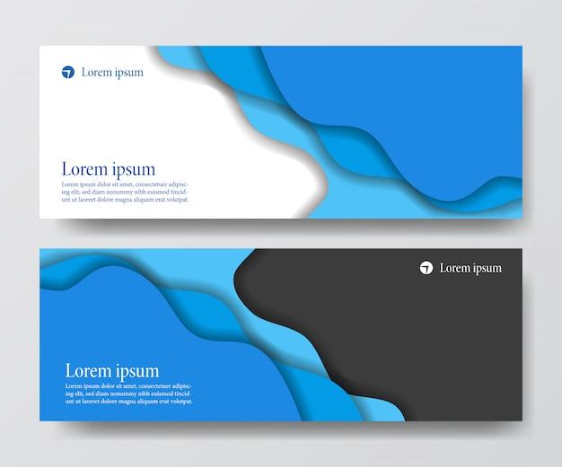 Flüssige flüssige header-business-banner Premium Vektoren