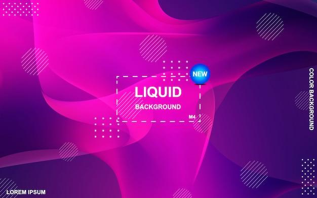 Flüssiges farbhintergrunddesign. flüssiger farbverlauf formt die komposition Premium Vektoren
