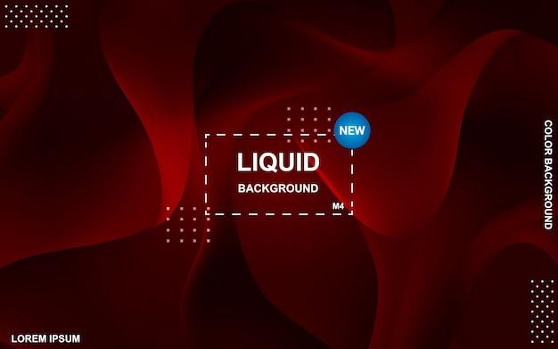 Flüssiges farbhintergrunddesign. flüssiger farbverlauf formt die komposition. Premium Vektoren