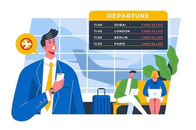 Flug abgesagt Kostenlosen Vektoren