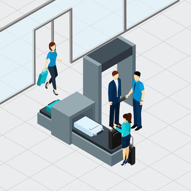 Flughafen sicherheitskontrolle Kostenlosen Vektoren