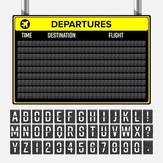 Flughafen-vorstand Premium Vektoren
