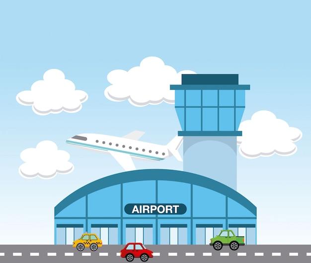 Flughafenterminal Premium Vektoren