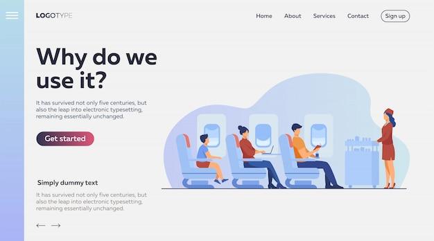 Flugreise mit komfortillustration Kostenlosen Vektoren