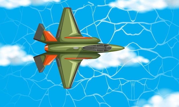 Flugzeug aus der luftbild Kostenlosen Vektoren