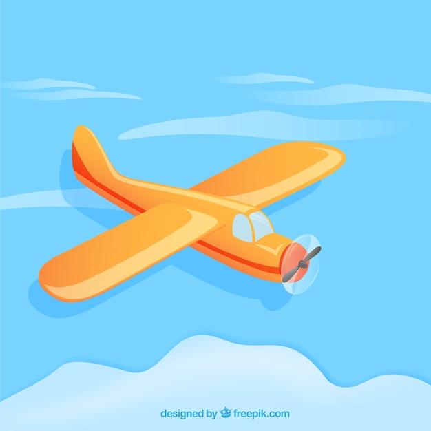 Flugzeug im cartoon-stil Kostenlosen Vektoren