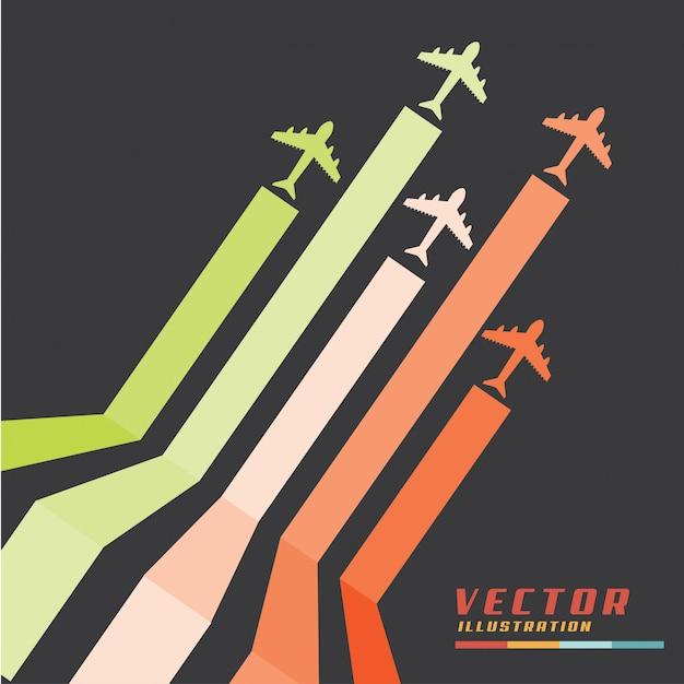 Flugzeug Kostenlosen Vektoren