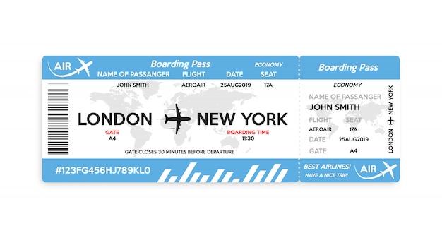 Flugzeugbordkartekarte lokalisiert auf weißem hintergrund Premium Vektoren