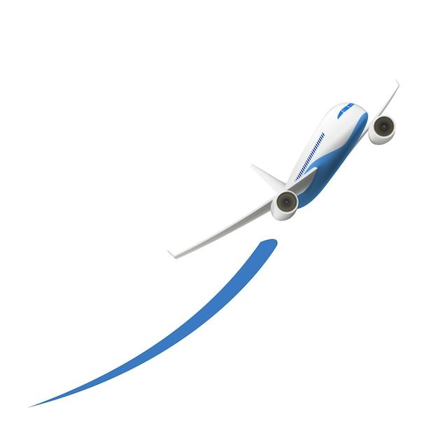 Flugzeugstart Kostenlosen Vektoren