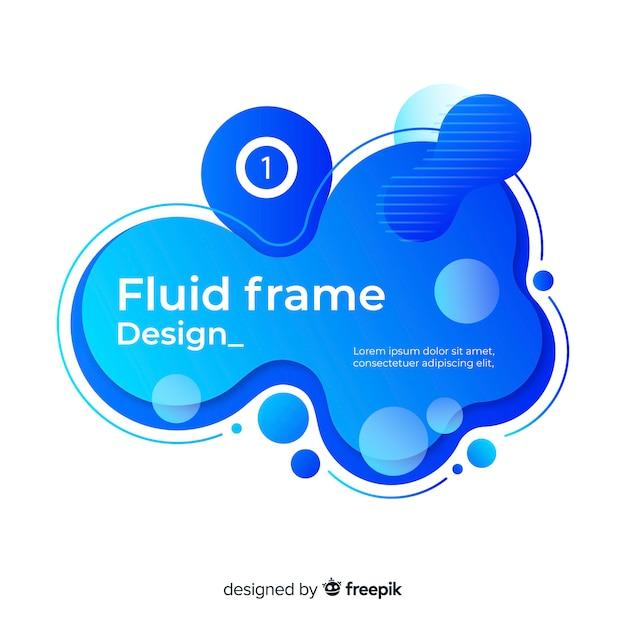 Fluid frame design Kostenlosen Vektoren