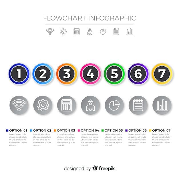 Flussdiagramm-infografik Kostenlosen Vektoren
