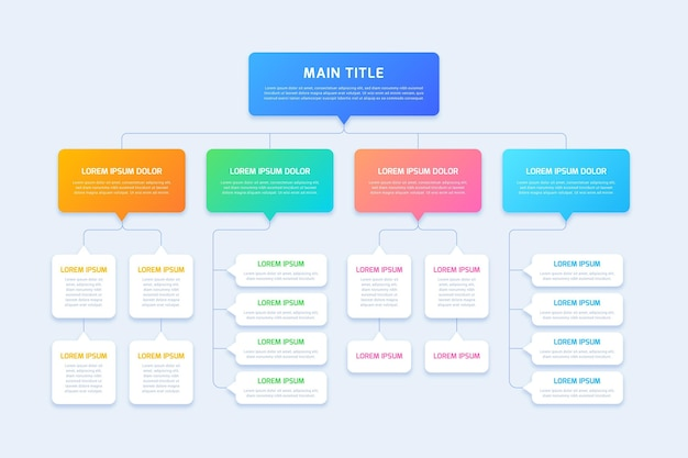 Flussdiagramm infografik Premium Vektoren