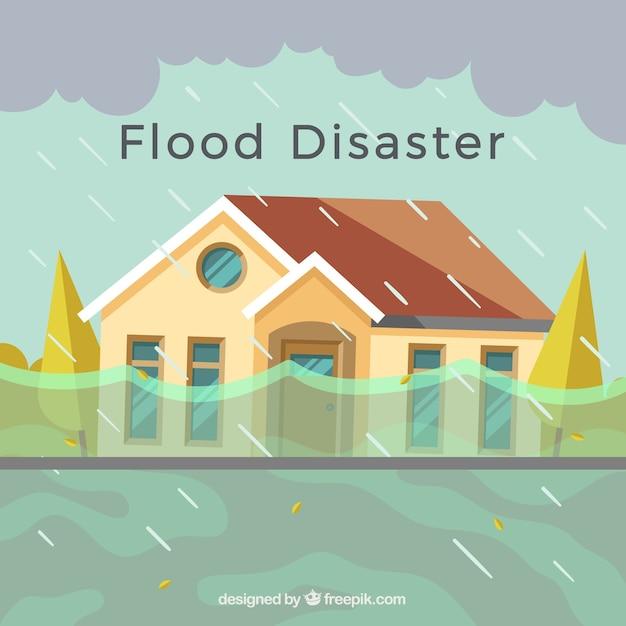 Flutkatastrophe design Kostenlosen Vektoren