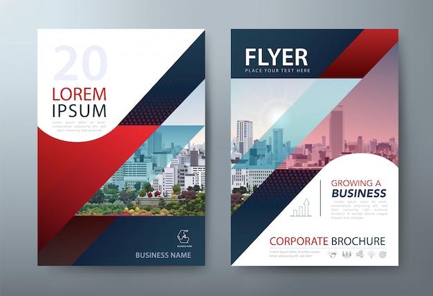 Flyer, buchumschlagvorlagen, layout im format a4. Premium Vektoren