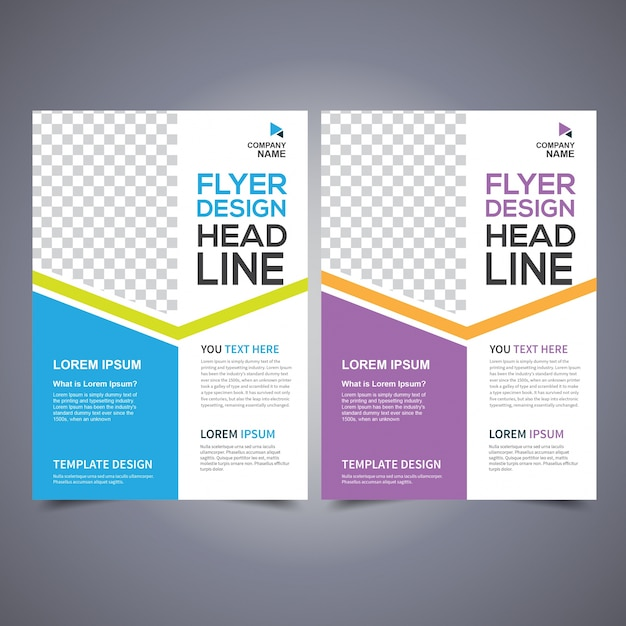 Flyer Design Vorlage Vektor, Broschüre Design, Poster Design ...