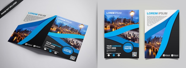 Flyer design Premium Vektoren