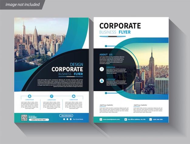 Flyer geschäftsvorlage für cover broschüre corporate Premium Vektoren