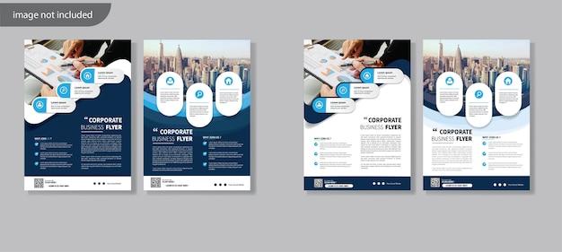 Flyer template design für cover layout jahresbericht Premium Vektoren