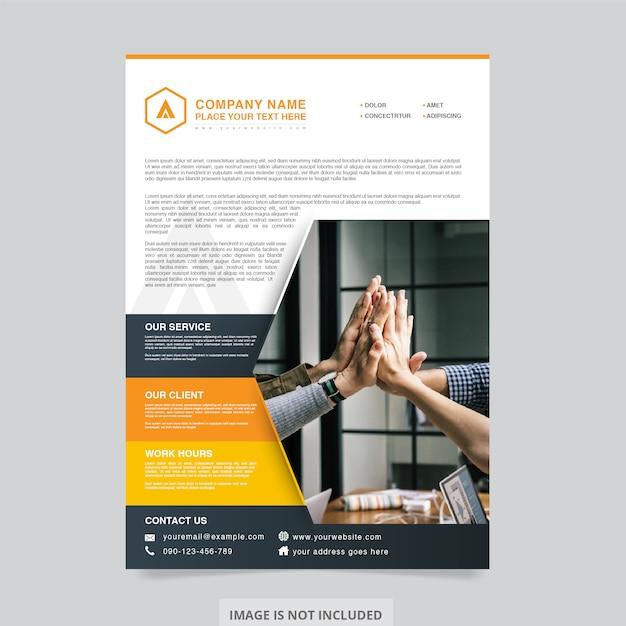 Flyer Unternehmen Design Premium Vektoren