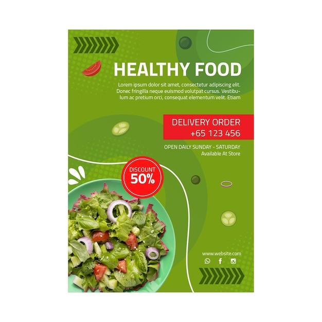 Flyer vorlage für gesunde lebensmittel Kostenlosen Vektoren