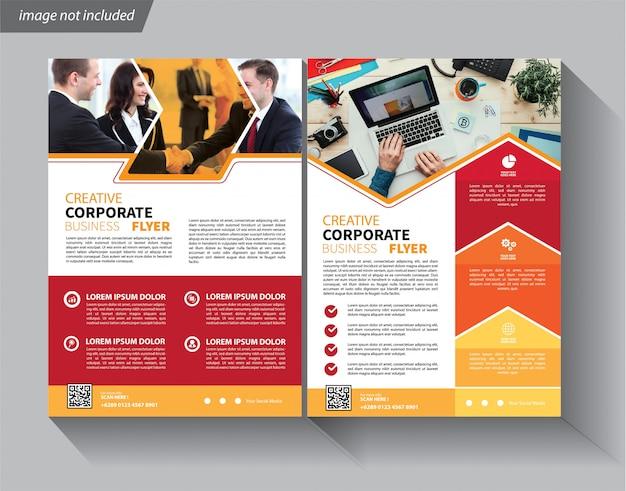 Flyer vorlage für imagebroschüre Premium Vektoren