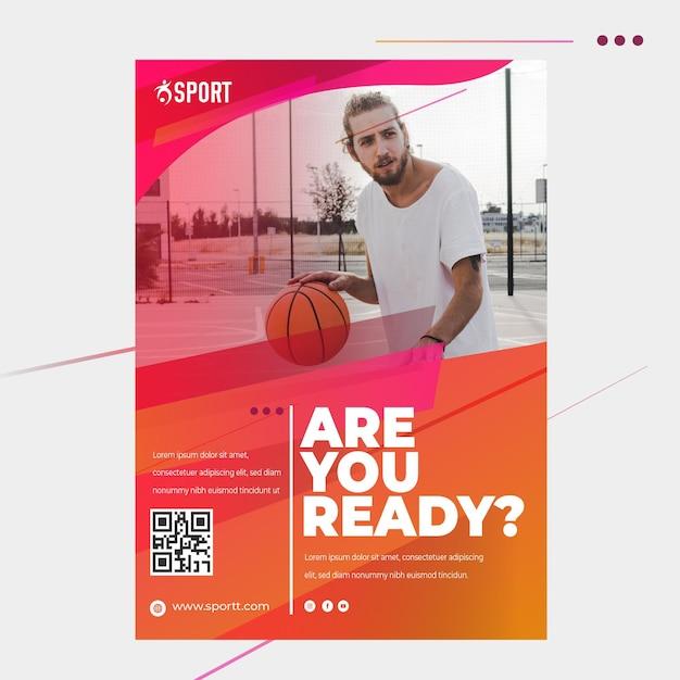 Flyer vorlage für sportliche aktivitäten Premium Vektoren