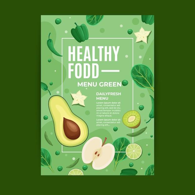Flyer vorlage gesundes essen Kostenlosen Vektoren