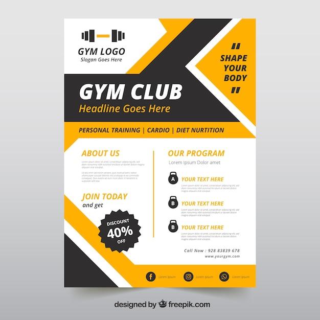 Flyer Vorlage mit Fitnessraum Informationen | Download der ...