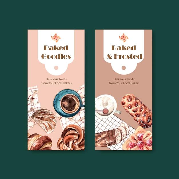 Flyer-vorlagen für den bäckereiverkauf Kostenlosen Vektoren