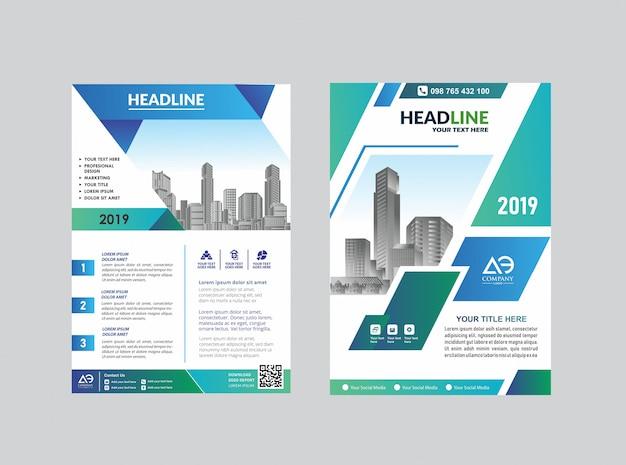 Flyer zum broschüren-layout für das event Premium Vektoren