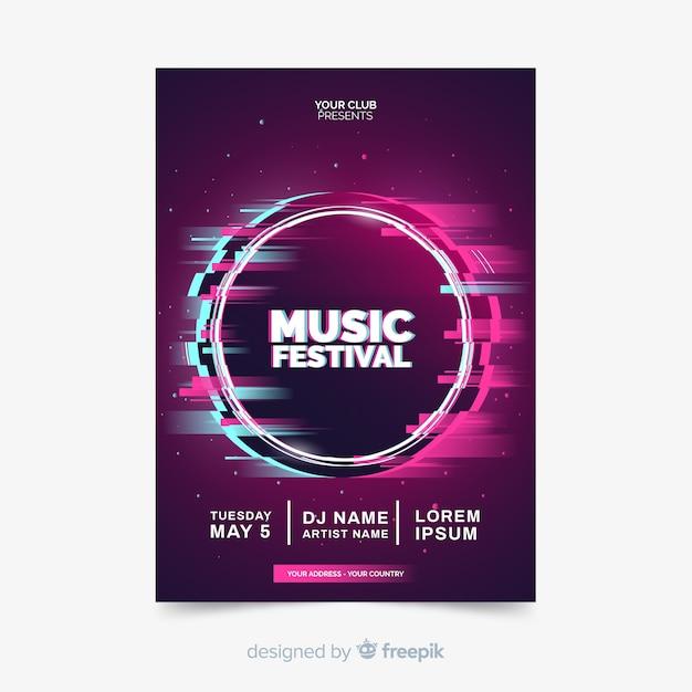 Flyer zum musikfestival Kostenlosen Vektoren
