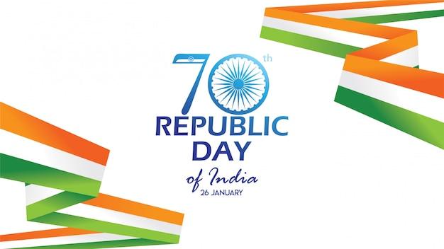 Flyer zum tag der republik indien Premium Vektoren