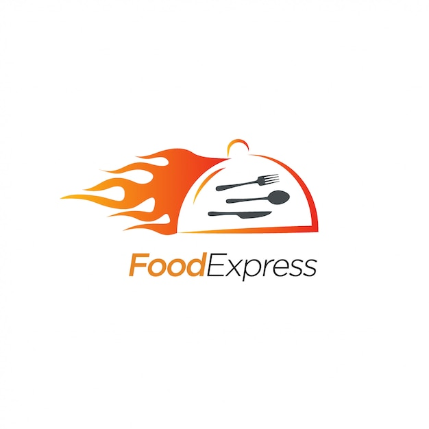 Food express logo design Premium Vektoren