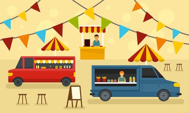 Food festival banner Premium Vektoren