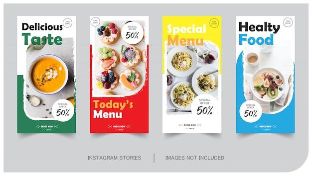 Food & kulinarische instagram-post Premium Vektoren