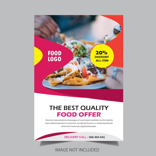 Food-Restaurant Broschüre Design | Download der Premium Vektor