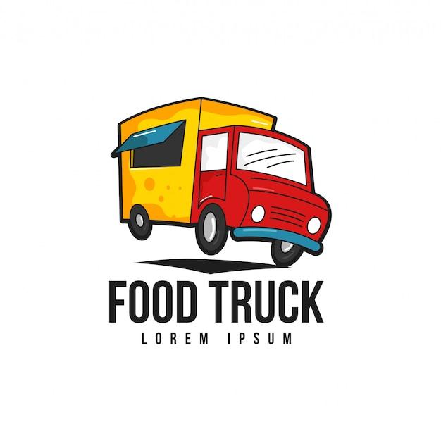 Food truck-logo Premium Vektoren