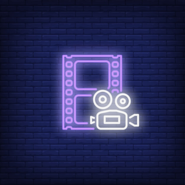 Footage leuchtreklame Kostenlosen Vektoren
