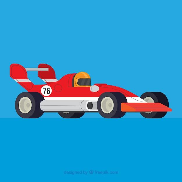 Formel-1-rennwagen mit flachem design Kostenlosen Vektoren