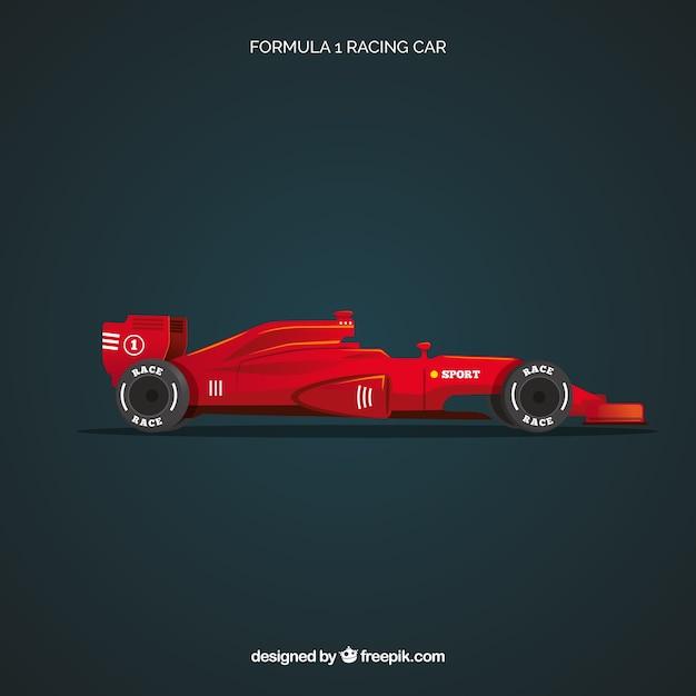 Formel-1-rennwagen mit realistischem design Kostenlosen Vektoren