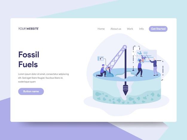 Fossile kraftstoff-illustration Premium Vektoren