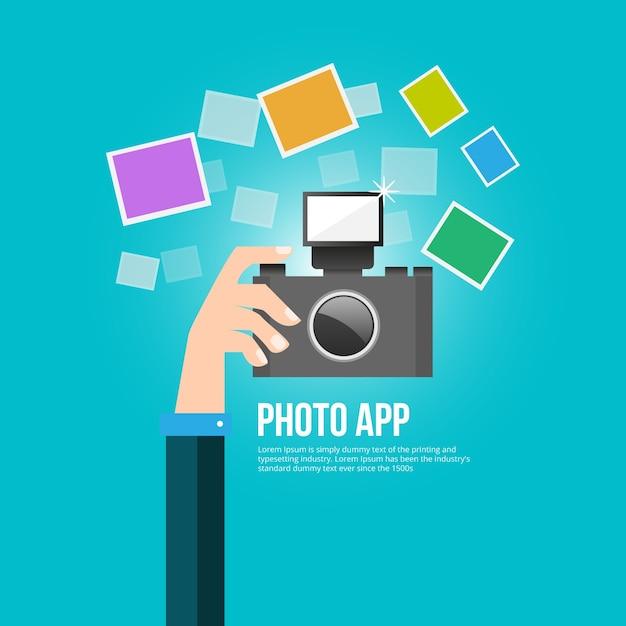 Foto-app Kostenlosen Vektoren
