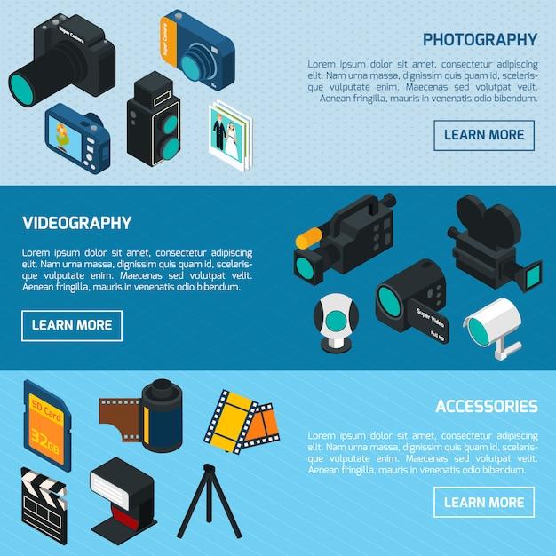 Foto- und videobanner Kostenlosen Vektoren