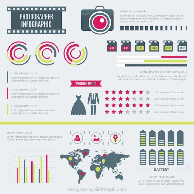 Fotograf wohnung infografik Kostenlosen Vektoren