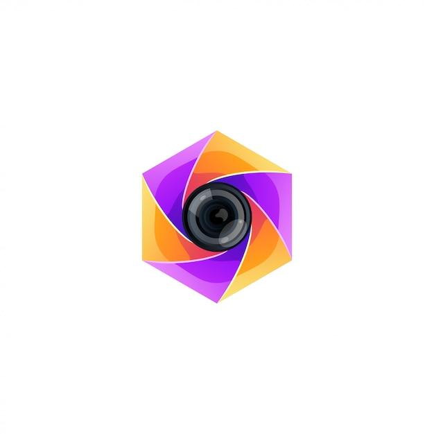 Fotografie farbe logo design vektor Premium Vektoren