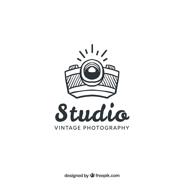 Fotografie-logo mit seitenansicht Kostenlosen Vektoren