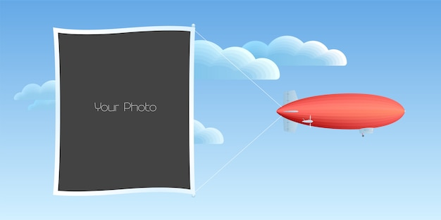 Fotorahmencollage, sammelalbumillustration Premium Vektoren